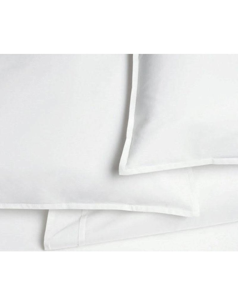 AREA home Pleat white Queen fitted sheet