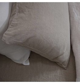 Ashley Meier Fine Linens Ashley Stone Washed Pillow Case Standard 20x26 Natural
