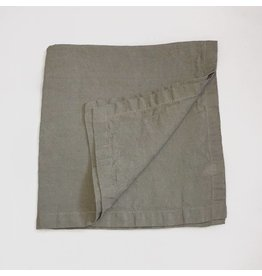 "Ashley Meier Fine Linens Stonewashed Linen 21"" Napkin - Taupe"