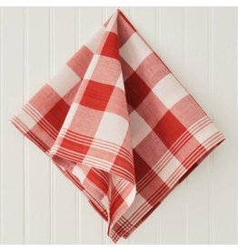 Les Indiennes Gingham Bandana in Madder Red