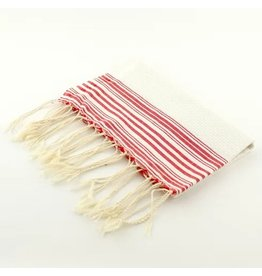 Scents and Feel Guest towel positive/negative white/red