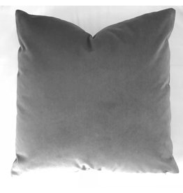 Ashley Meier Fine Linens AM Velvet Pillow 22x22, Slate