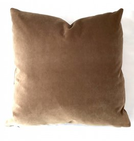 Ashley Meier Fine Linens AM Velvet Pillow 22x22, Yam