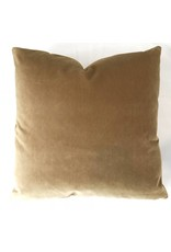 Ashley Meier Fine Linens AM Velvet Pillow 22x22, Nutmeg