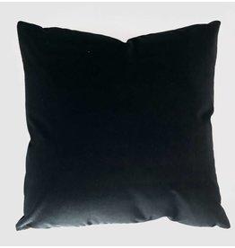 Ashley Meier Fine Linens AM Velvet Pillow 22x22, Ebony