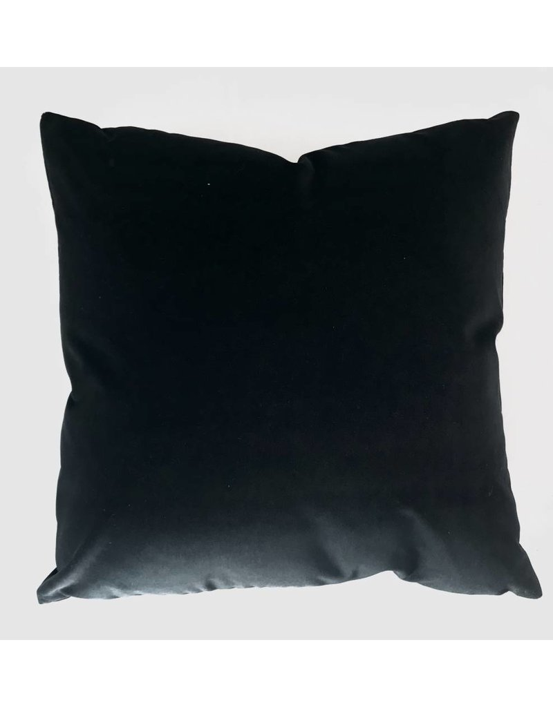 Ashley Meier Fine Linens AM Velvet Pillow 22x22, Ebony