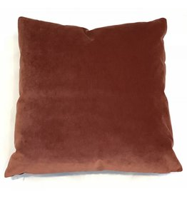 Ashley Meier Fine Linens AM Velvet Pillow 22x22, Zinnah