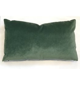 Ashley Meier Fine Linens AM Velvet Lumbar Pillow 14x24, Emerald