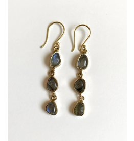Roost Labradorite Cabochon Dangle Earrings