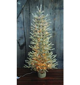 "Vintage Floral Imports 48"" Silver Pine Tree, Burlap Clear"