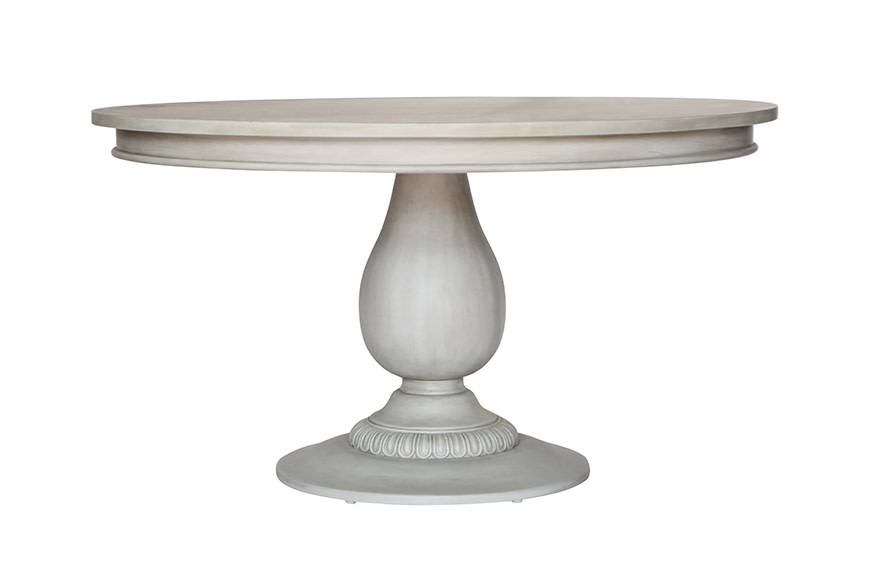 Ave Home Penelope Pedestal Table- Aged Grey
