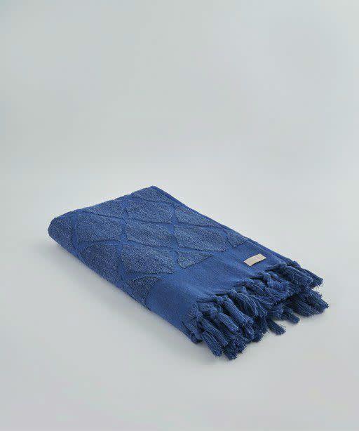 Ivy Columbus/Jacquard Towel Royal Blue