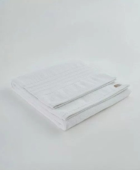 Ivy Nova/Terry Jacquard Border White Bath