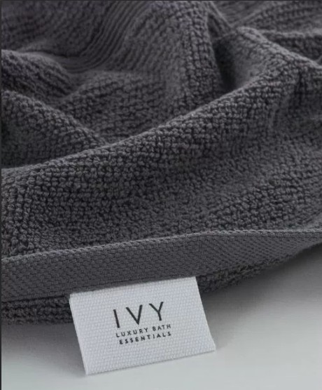 Ivy Rice Effect Storm Grey Bath