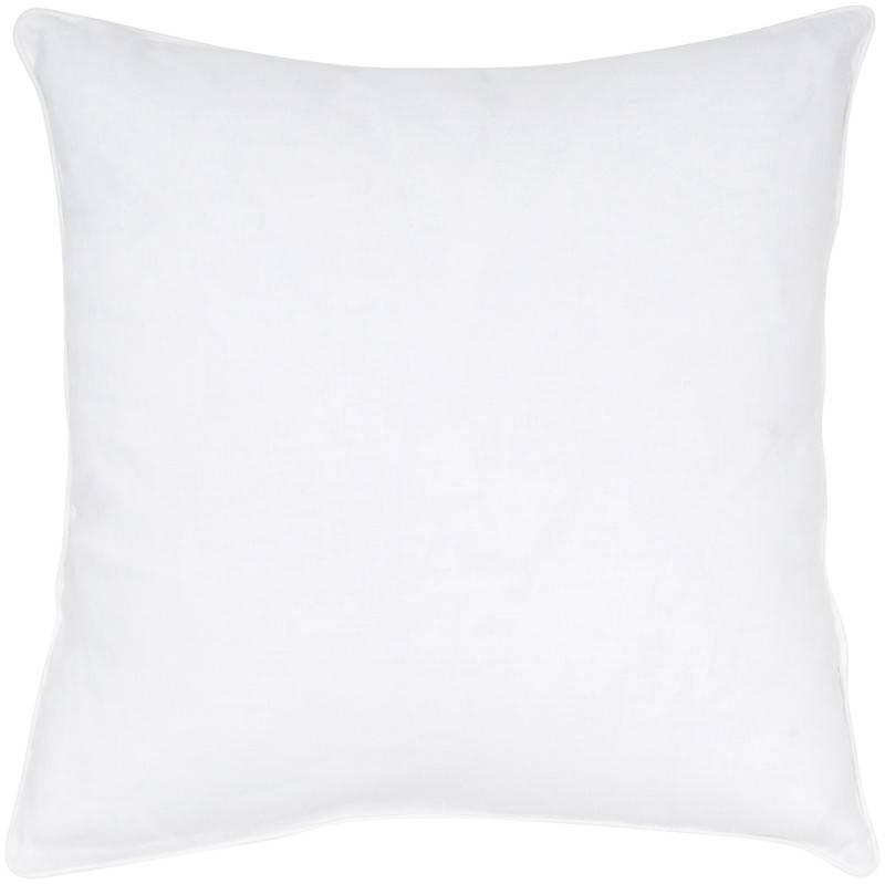 """India's Heritage Linen Cotton White Pillow 20"""""""