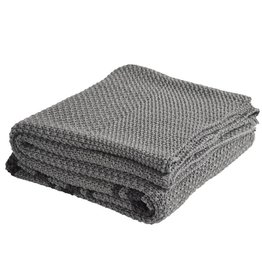 India's Heritage Grey Knitted Throw