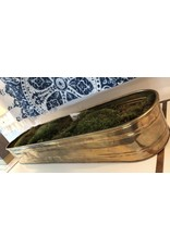 Long Brass Container with Moss