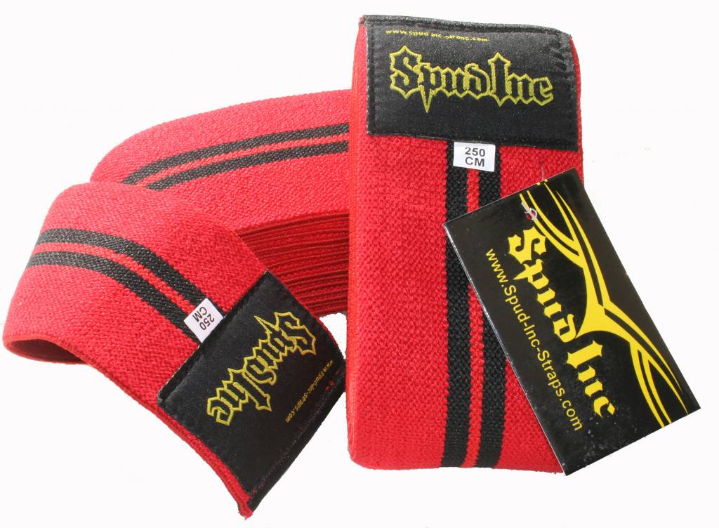 Spud, Inc. Straps & Equipment Knee Wrap, Regular Strength, 250 cm