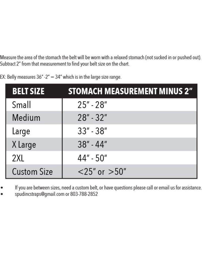 Spud, Inc. Straps & Equipment Men's Deadlift Belt 3-ply