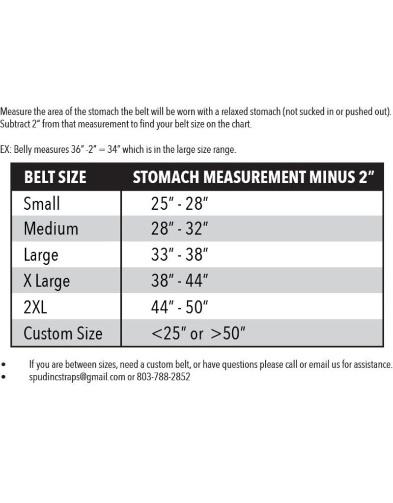 Spud, Inc. Straps & Equipment Women's Pro Series Belt 2-ply