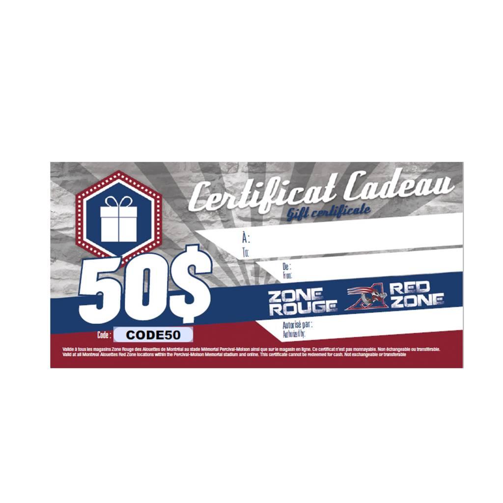 AlsFC CARTE-CADEAU 50$