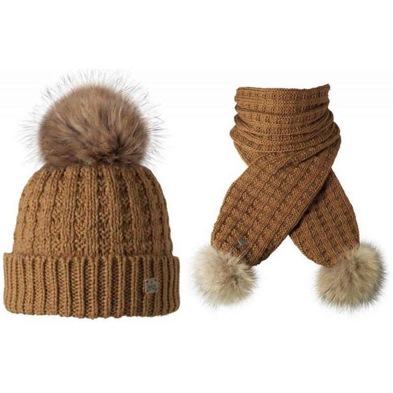 Filippa Beanie & Scarf Set 'Real Fur'