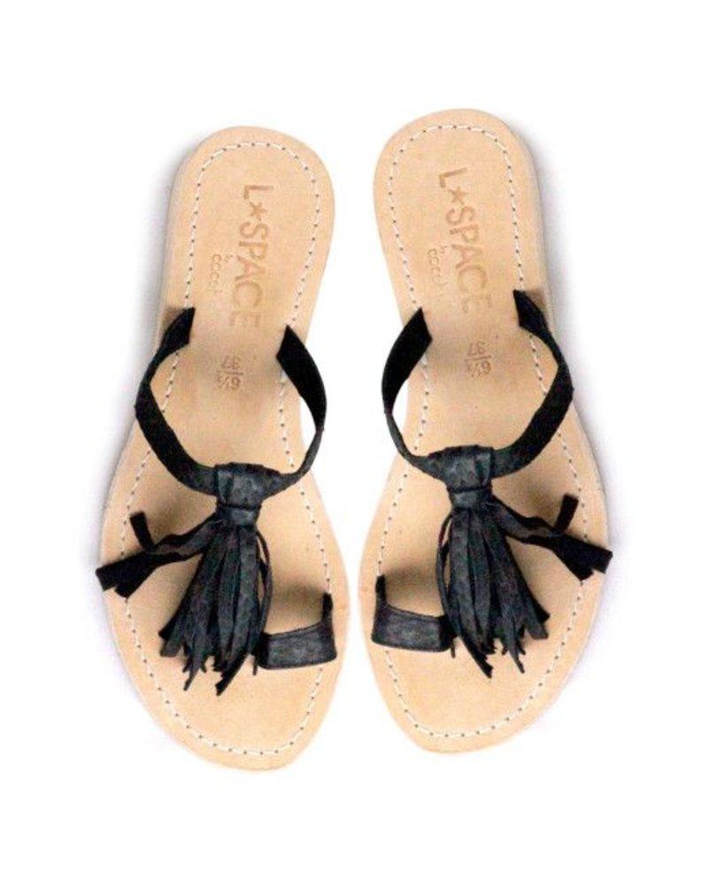 L*Space Fringe Leather Sandal