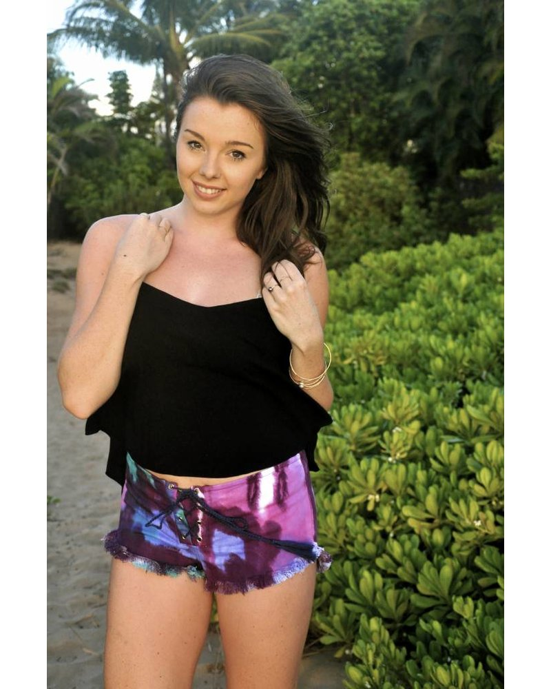 Indah Vibe Shorts Cosmic Tie Dye