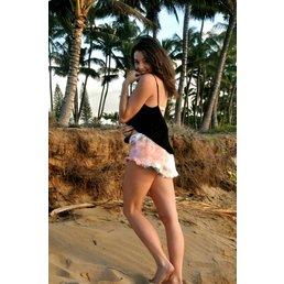 Indah Vibe Twill Shorts Impression Tie Dye
