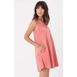 z supply All Tied Up Dress Spiced Coral