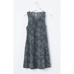 z supply All Tied Up Dress Palms Black Iris