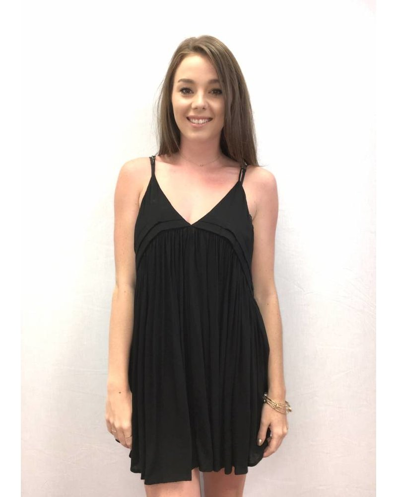 Indah Saffron Dress Black