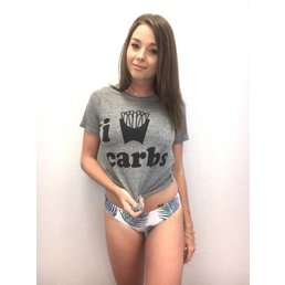 Chaser I Love Carbs Tee Grey