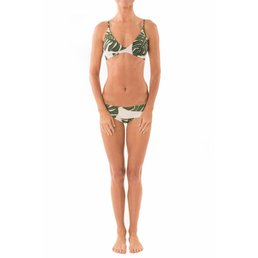 Greenlee Tie Back Bra Green Leaf