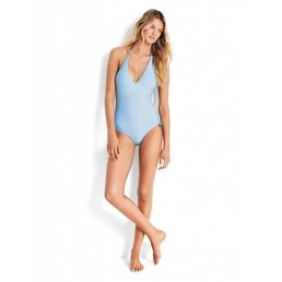 Seafolly Vintage Wildflower One Piece in Iceberg
