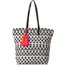 Seafolly Sundowner Tote Black/White