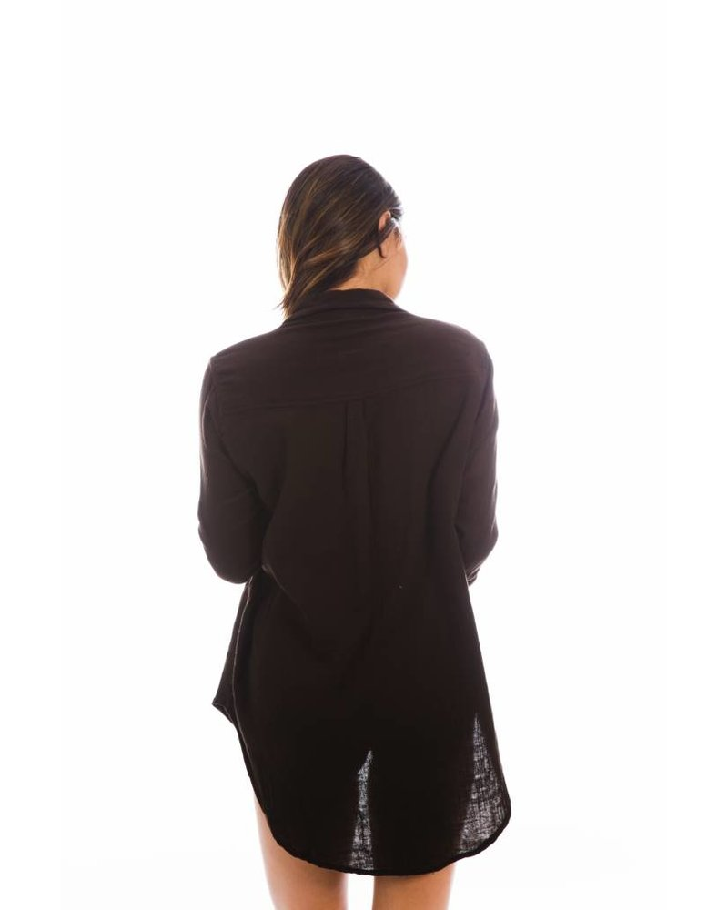 Acacia Milos Cotton Button Up Black Beauty