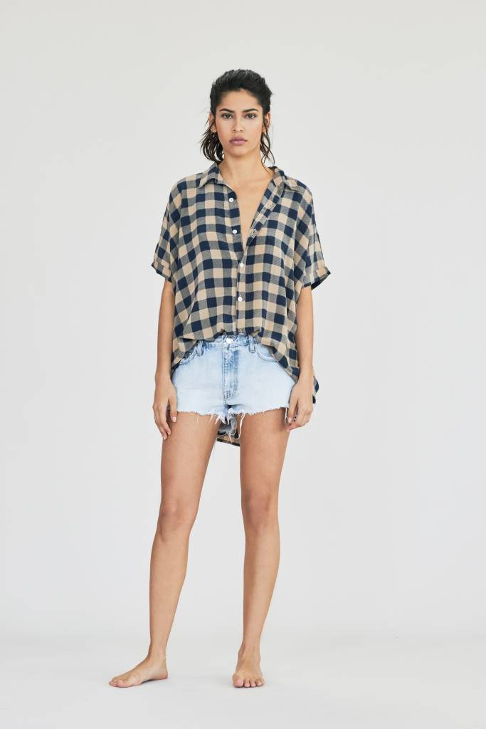 Acacia Mombasa Shirt Dress Blue Check
