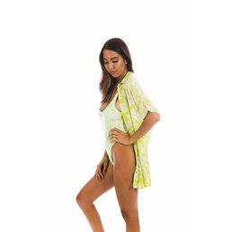 Acacia Mombasa Shirt Dress Neon Magnolia
