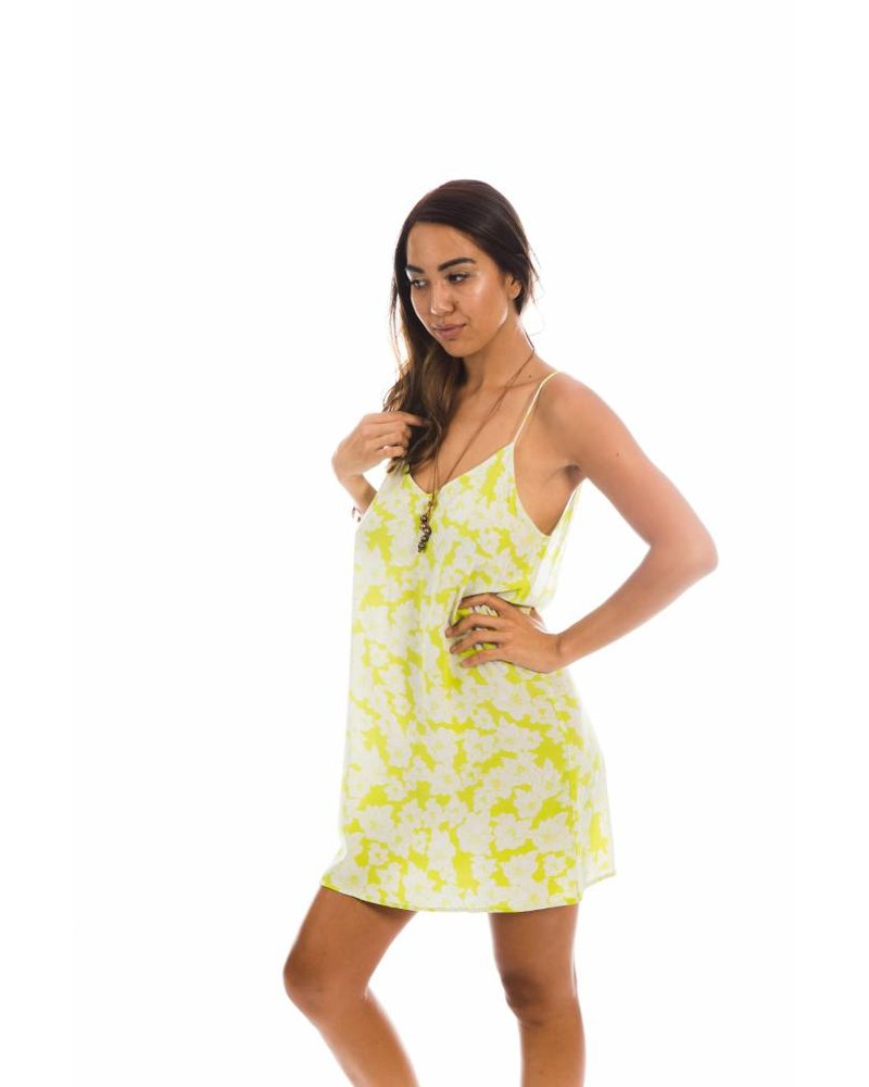 Flores Dress Neon Magnolia