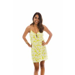 Acacia Flores Dress Neon Magnolia