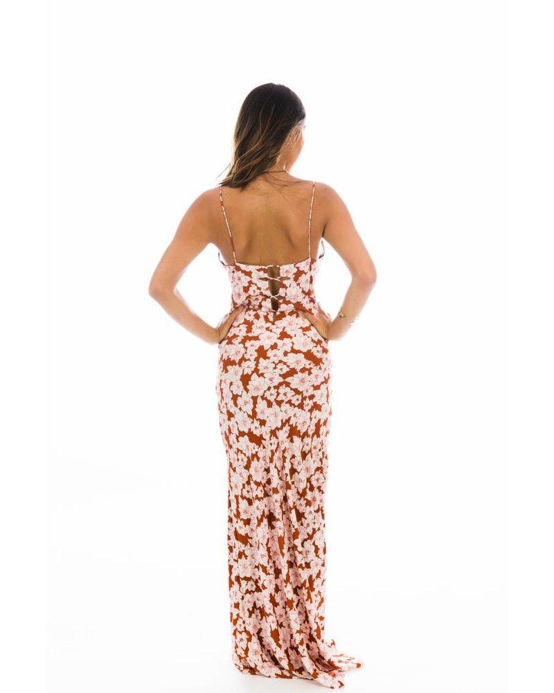 Acacia Berawa Dress Rust Magnolia
