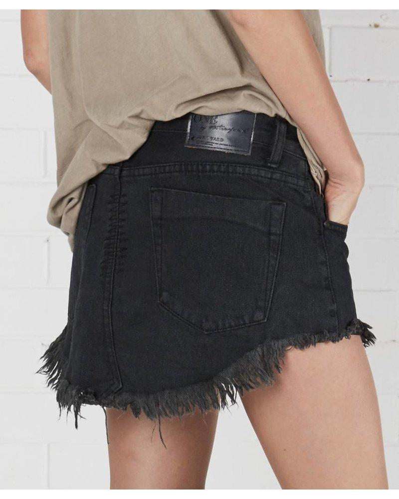 One Teaspoon Junkyard Skirt Fox Black
