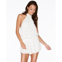 L*Space | Kelly Romper Ivory Geo