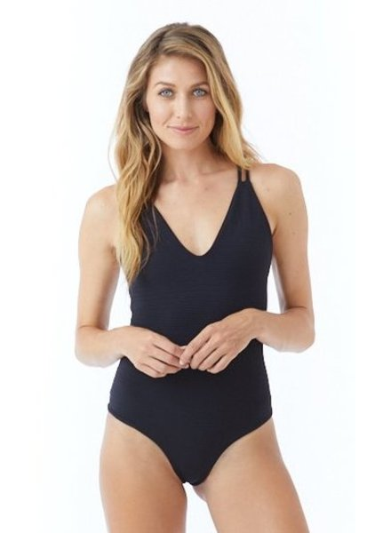Citrine Lucia One Piece Black Rib