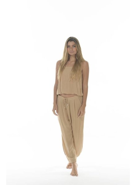 Indah Alligator Pant Nude