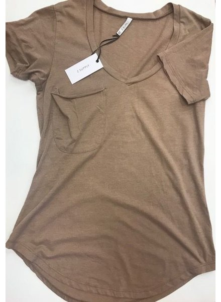 z supply Pocket Tee Taupe Grey