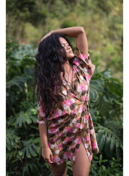 Acacia Kaupo Rayon Kimono Lei Day