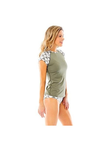 Belles Rashguard Olive Triangles