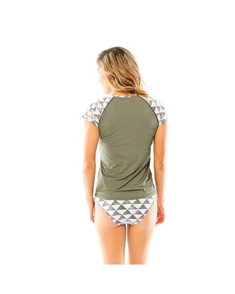 Belles Rashguard Olive Triangles